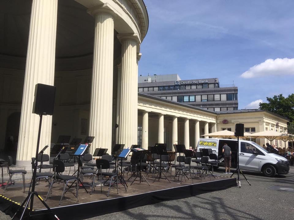 Klasse Wetter bei der Musikmeile des Sinfonieorchesters der Stadt Aachen.