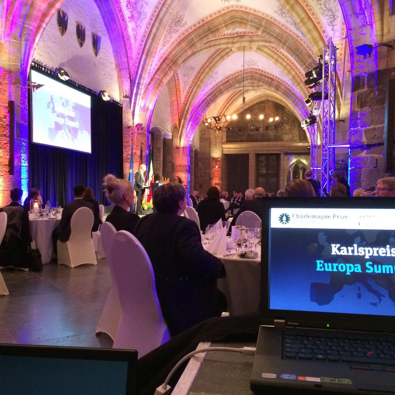 Karlspreis Europa Summit im Rathaus der Stadt Aachen