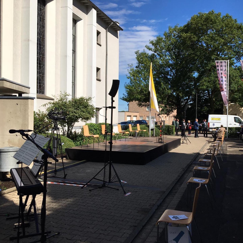 Einsegnung des Columbarium St. Marien Würselen