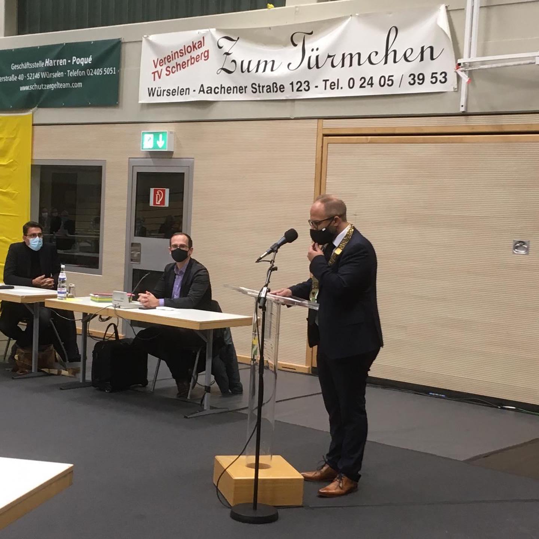 Konstituierende Sitzung des Rates der Stadt Würselen